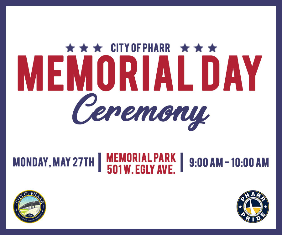 Pharr Memorial Day: Right Sidebar