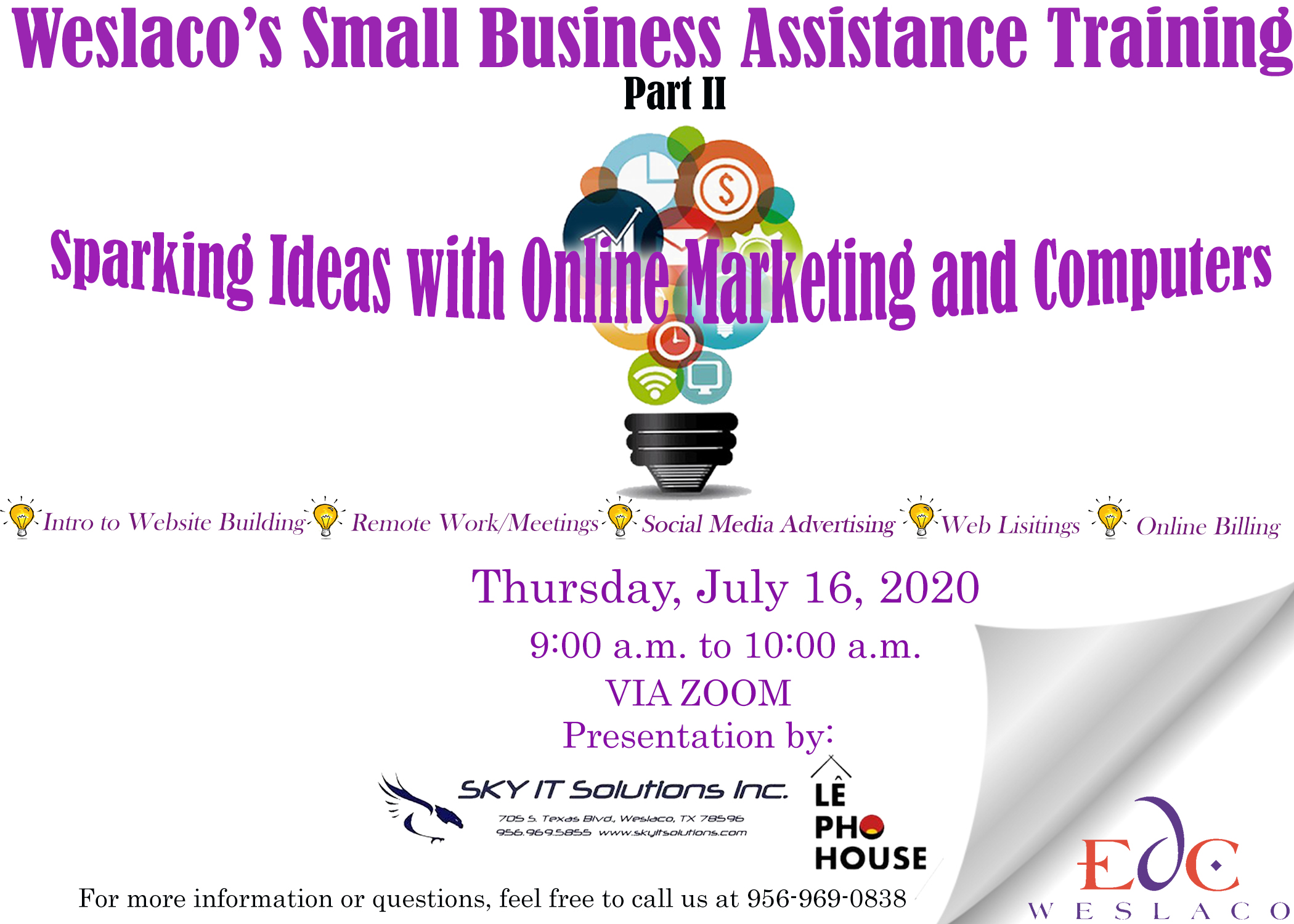Weslaco EDC Small Business Training